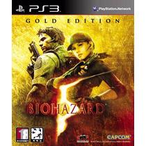 Jogo Ps3 Resident Evil 5 Gold Edition Lacrado Mídia Física