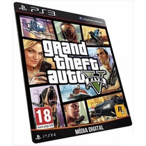 Jogo Gta 5 - Grand Theft Auto V - Game Ps3 Midia Digital Psn