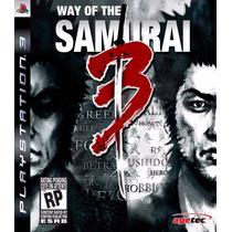 Way Of The Samurai 3 - Ps3 - Pronta Entrega!
