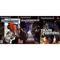 Trasnformers The Game Para Playstation 2 (kit 3 Jogos Ps2