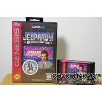 Jeopardy - Deluxe Edition - Com Caixa - Jogo Sega Mega Drive