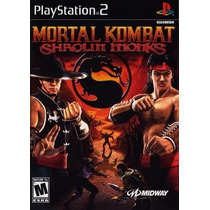 Mortal Kombat Shaolin Monks Ps2 Patch Com Capa E Impressão