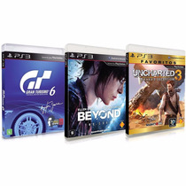 Gran Turismo 6 + Beyond Two Souls + Uncharted 3 Rcr Games