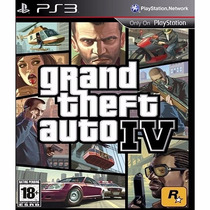 Gta 4 Grand Theft Auto Iv Ps3 Original Mídia Física Lacrado
