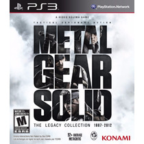 Metal Gear Solid The Legacy Collection Ps3 (08 Jogos) + Dlc