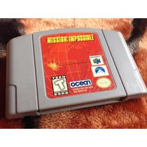 Mission: Impossible (nintendo 64) Em Ótimo Estado, Confira!