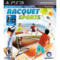 Tênnis Racquet Sports Move Playstation 3 Mídia Física Ps3