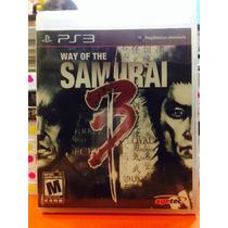 Jogo Way Of The Samurai 3 Playstation 3, Jogo Físico