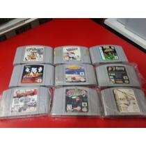 Nintendo 64 Lote Com 9 Cartuchos
