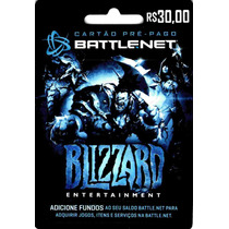 Cartão Blizzard 30 Reais - Gift Card - Battle.net - Wow !!