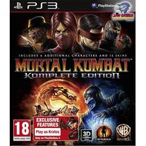 Jogo Ps3 - Mortal Kombat Komplete Edition - Usado