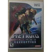 Vendo Metroid Prime 3 Corruption Do Wii Americano Completo