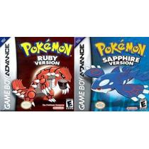 Pokemon Ruby + Pokemon Saphire Ambos Com Caixa E Berço