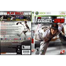 Major League Baseball 2k9 P/ Xbox 360 Original Frete R$7,00
