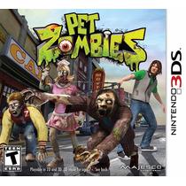 Jogo Game Pet Zombies 3ds Nintendo Lacrado Pronta Entrega