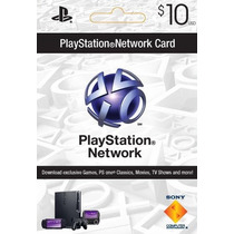 Card Psn 10$ Dólares Cartão Playstation Network Ps4 Ps3 Vita