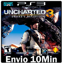 Uncharted 3 Drakes [> Jogo Dublado Português Psn Ps3 Play