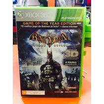 Jogo Batman Arkham Asylum Xbox 360 Mídia Física Em Português