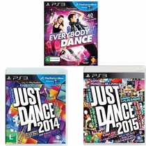 Just Dance 2014 + Just Dance 2015 + Everybody Dance Ps3