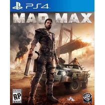 Mad Max Ps4 Jogo Filme Mídia Fisica Lacrado Em Portugues