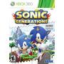 Sonic Generations - Xbox 360 Mídia Física Novo Lacrado