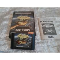 Fita Para Mega Drive Populous/ Original