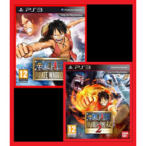 Combo One Piece Pirate Warriors 1 E 2 Ps3 Psn Promocao!!
