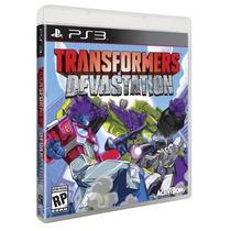 Transformers Devastation Ps3(mídia Física)(original-lacrado)