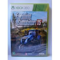 Farming Simulator 15 - Jogo Xbox 360 - Novo Lacrado