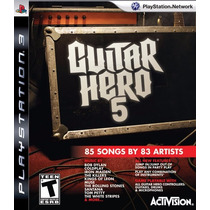 Guitar Hero 5 - Ps3 - Sem Manual - Madgames