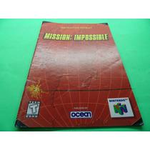 Manual Mission Impossible Em Inglês Nintendo 64 N64