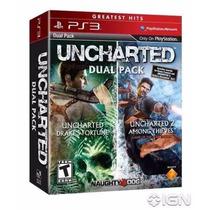 Uncharted 1+2 Dual Pack Ps3 Código Psn Original Aceito Mp
