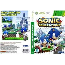 Jogo X Box 360 Sonic Generations P Entrega Envio Ja Original