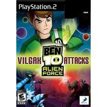 Jogos Ps2 - Ben 10 - Alien Force - Vilgax Attacks