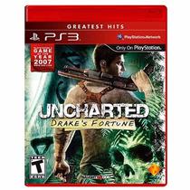Uncharted Drakes Fortune Ps3 Novo Lacrado + Pôster Brinde
