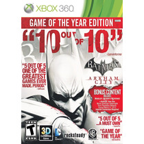 Batman Arkham City: Game Of The Year Edition - Xbox 360