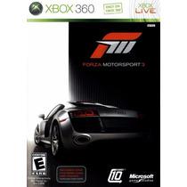 Forza Motorsport 3 Xbox 360 Original *** Mídia Física ***