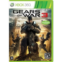 Gears Of War 3 Xbox 360 - Original Legendado Em Português