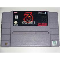 Mortal Kombat 3 Snes Funcionando Perfeitamente Com Garantia!