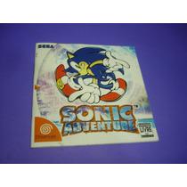 Dreamcast : Manual Sonic Adventure Original E Magical Quest