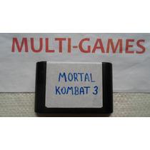 Mortal Kombat 3 Original Para Mega Drive - Ótimo Jogo !