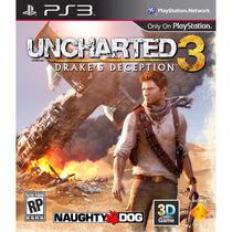 Uncharted 3 Drakes Deception - Ps3 Mídia Física, Novo