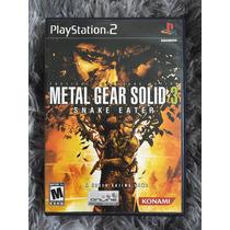 Novo Jogo Metal Gear Solid Mgs 3 Snake Eater Cx Mnl 100%