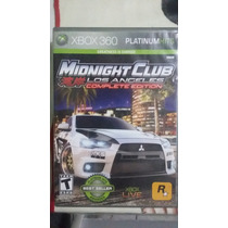 Jogo Midnight Club Los Angeles Original Xbox 360 Platinum