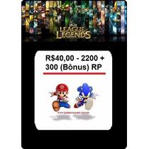 League Of Legends Pin Code 2500 Rp