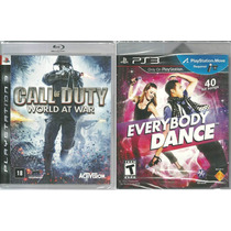 Kit Jogo Call Of Duty World At War + Everybody Dance Ps3