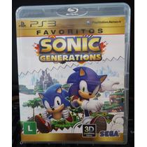 Jogo Sonic Generations Play 3 (original)