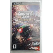 Monster Jam Path Of Destruction Psp Original *novo Lacrado*