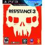 Resistance 3 - Jogo Exclusivo Para Playstation 3