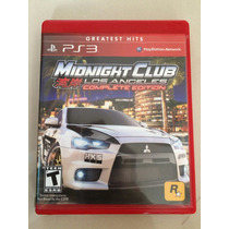 Midnight Club Los Angeles Complete Edition - Ps3 - Mídia